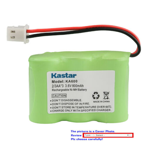Kastar Ni-MH Battery Replace for Kaito KA500 5-way Weather Alert Shortwave Radio