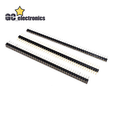 Pin Header Socket 40pin 2.54mm Straight Singledouble Row Round Malefemale A3us