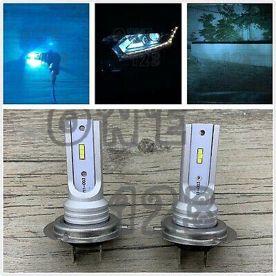 2x H7 CSP LED Headlight High Low Beam Bulbs Kit Bright 8000k Ice Blue 35W 8000LM