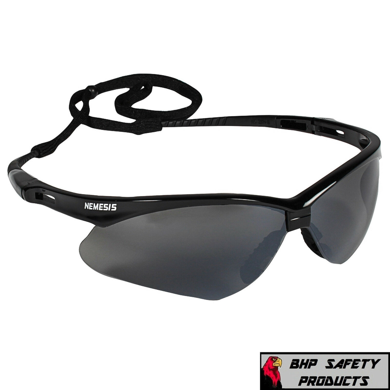 3 PAIR JACKSON NEMESIS 3000356 SAFETY GLASSES BLACK SMOKE MIRROR LENS GRAY