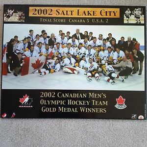 2002 Canadian Men's Olympic Hockey Team Gold Medal Winners