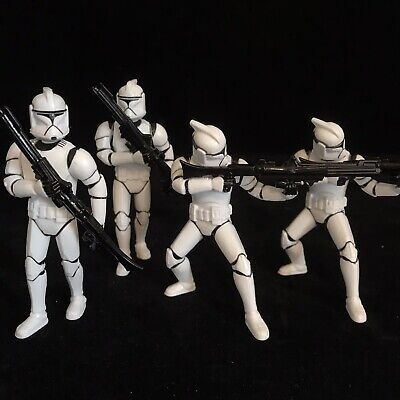 Star Wars Clone Troopers 4x Action Figures Toy Job Lot Bundle