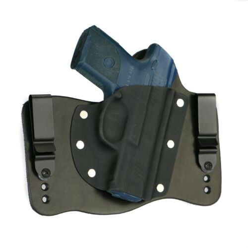 FoxX Leather & Kydex IWB Hybrid Holster Ruger SR9 Compact Black Right Tuckable