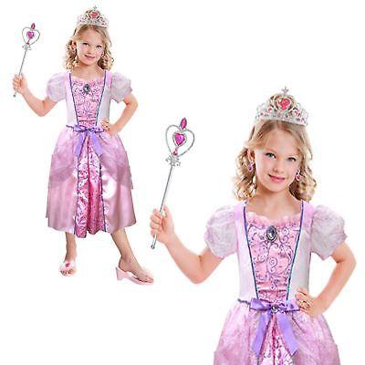 Mädchen hübsch rosa Prinzessin Märchen Kostüm Buch Woche Kostüm Zauberstab Fee