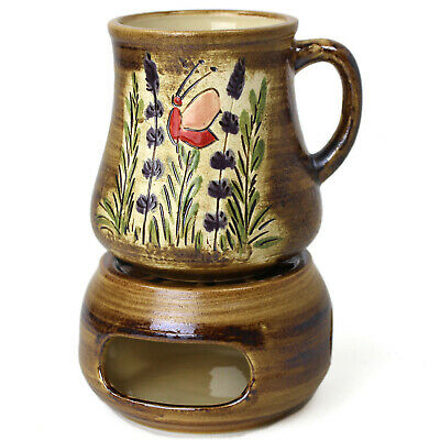 hen Tee Tasse Teetasse groß - Trinkbecher handbemalte Keramik (Bemalte Tasse Tee)