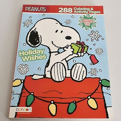 Peanuts Coloring Pages (Peanuts Snoopy Holiday Wishes 288 Page Coloring Activity)