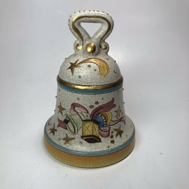 1974 Veneto Flair Christmas Bell Italy Signed And Numbered 88/2000 Hand Painted