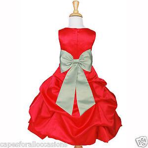 Purple blue fuchsia christmas holiday wedding flower girl dress ebay
