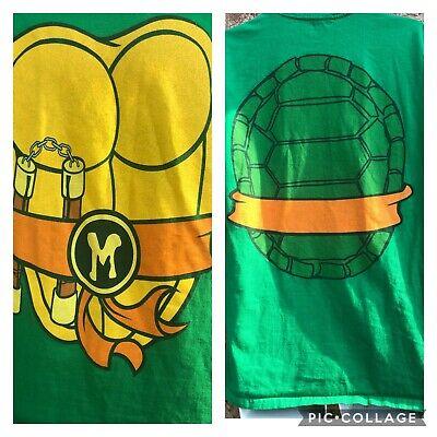 Vintage Herren Teenage Mutant Ninja Turtles Michelangelo Comics - T Shirt Ninja Kostüm