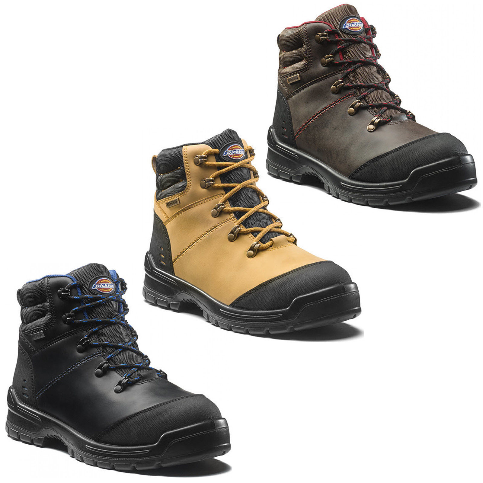 Leather Black FC9514 Dickies Armona Safety Work Shoe Composite Midsole and Toe