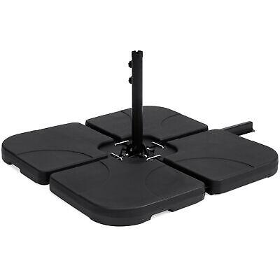 BCP 4-Piece Cantilever Offset Patio Umbrella Stand Square Base Plate Set - Black](Cheap Plate Sets)