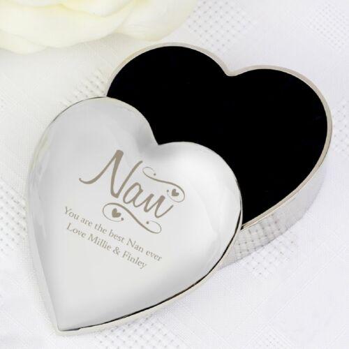 Personalised+Nan+Heart+Trinket+Box+Keepsake+Engraved+Birthday+Christmas+Gift