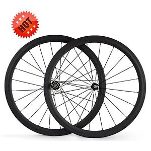 700C 44mm clincher  23mm wider carbon fiber road racing bicycle/bike wheel set