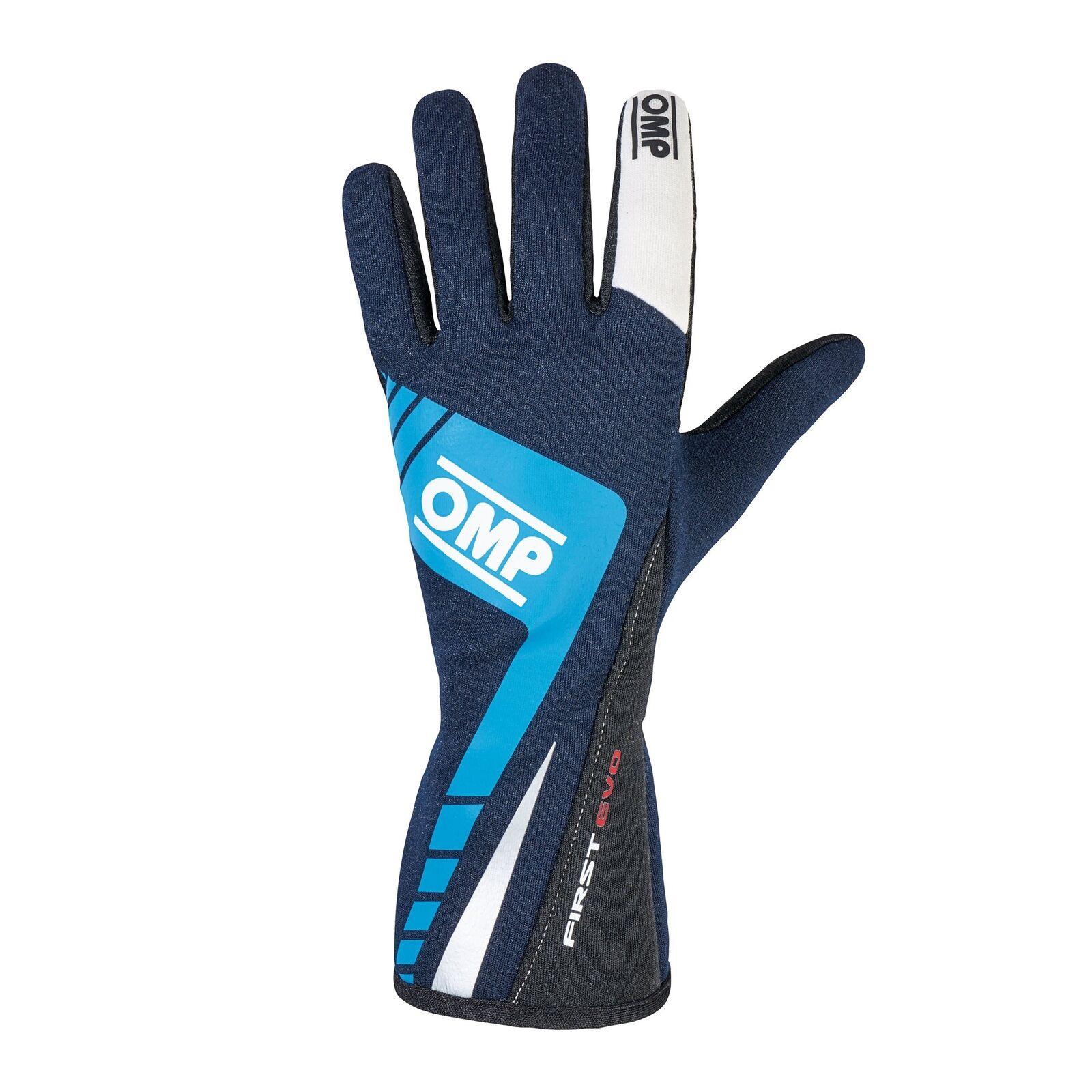 OMP FIRST EVO Racing Gloves | FIA 8856-2000 Holomogation | IB/757E