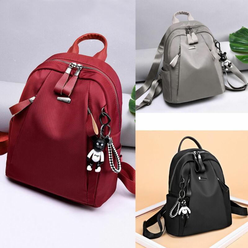 Damen Leder Rucksack Schultasche Handtasche Schultertasche Reisetasche Schule