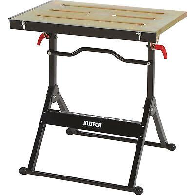 Photo Klutch Adjustable Steel Welding Table - 30in.L x 20in.W x 32 5/8in.H