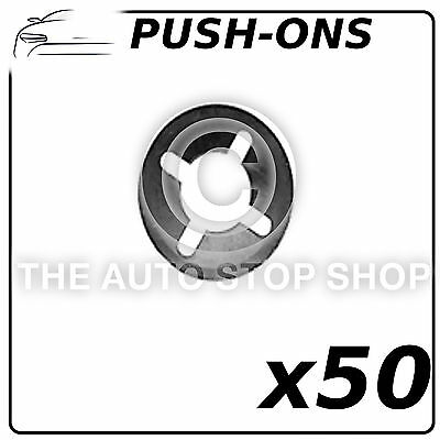 Fastener Circular Push ons Stem  6MM Part Number 1391 Pack of 50 All Vehicles