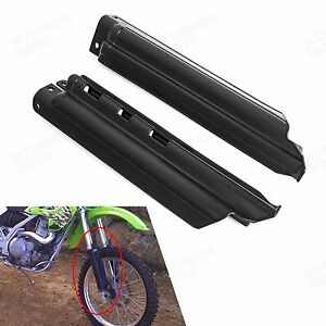 Black Fork Guards Fork Slider Protectors Fits Kawasaki KLX650 KLX250R 1994-1996