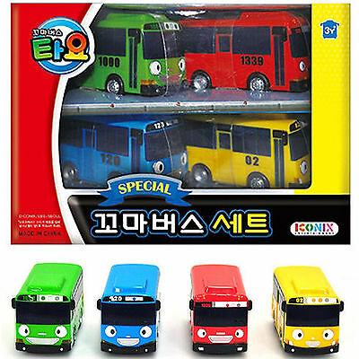 Little Bus TAYO Mini Cars special Edition set 4 pcs Toy ,Tayo Rogi Gani Rani