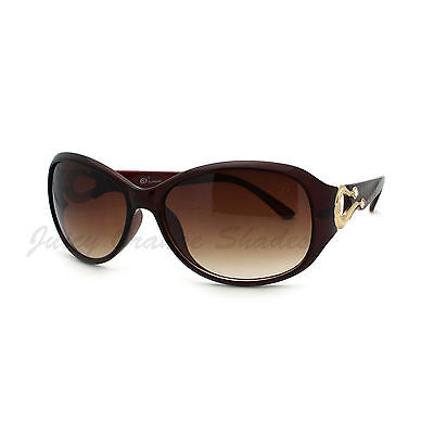 Womens Oval Round Sunglasses Horse Shoe Rhinestone (Horse Sunglasses)