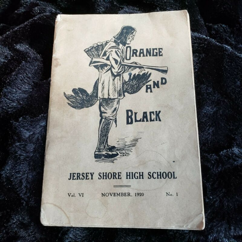 Jersey Shore High School PA Orange and Black November 1920 Editorials Stories