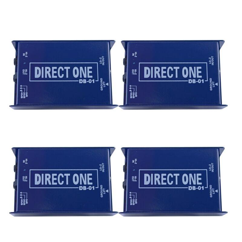 "4 LOT pack 1/4"" Instrument to Balanced & Unbalanced Direct di Box .25"" 3 pin XLR"