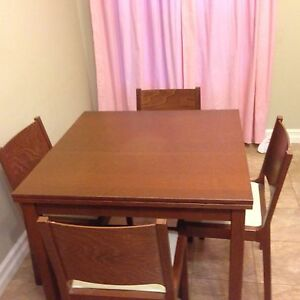 Wooden Expandable Table and Chairs