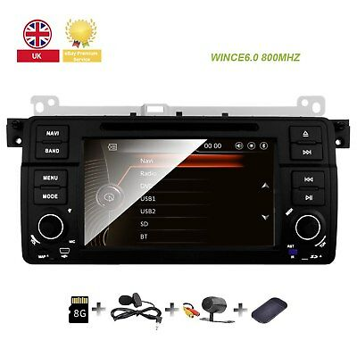 "BMW E46 318 320 325 M3 7""Car Radio DVD Player Stereo GPS Navigation 3G Canbus UK"