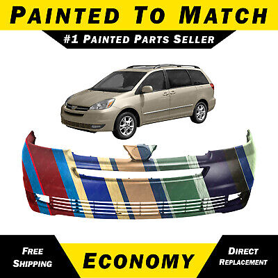 NEW Painted To Match- Front Bumper Cover Replacement For 2004 2005 Toyota Sienna