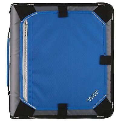 Five Star 2 Inch Zipper Binder Expansion Panel Durable Cobalt Blue Black...