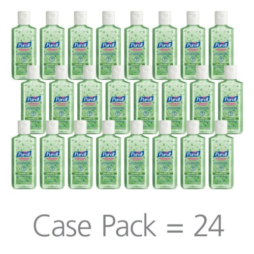 PURRELL Advanced Hand Sanitiezer Soothing Gel Case of 24  (96 Oz) Expire 2023