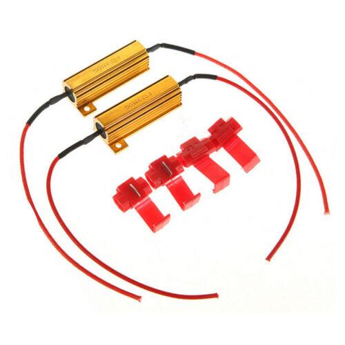LED EAGLE H4//9003 Load Resistor 50W Harness Decoder//Error Warning Canceller//Reduce//Fix Car Hyper Flashing Blinking Lights 2pcs