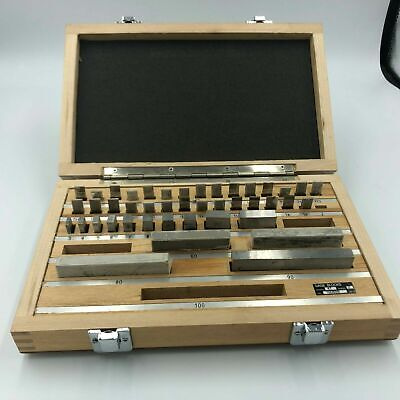 Gauge Blocks Steel 43 Pcs. Grade 2 No.100659 Caliper Inspection Instruments.