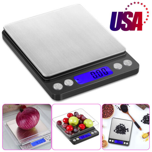 0.01 x 500g Digital LCD Scale Kitchen Jewelry Gold Food Herb