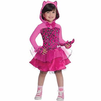 Girl's Barbie Kitty Cat Costume, SIZE SMALL 4-6 (Barbie Kitty Costume)