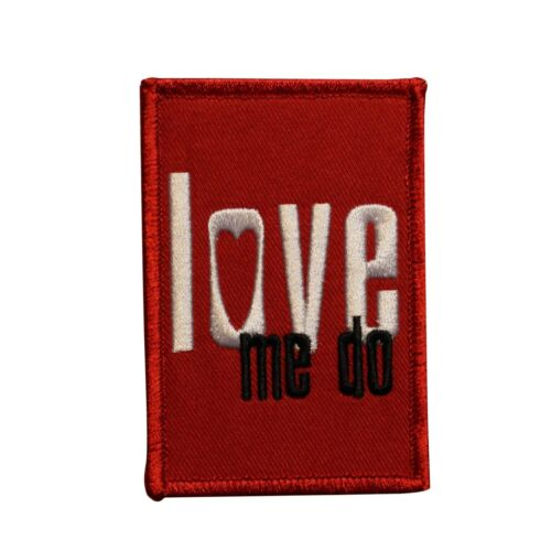 The Beatles Love Me Do Embroidered Iron On Patch - Licensed 073-I