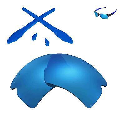 Wl Eisblau Ersatz Linsen und Gummi Kit für Oakley Flak 2.0 XL