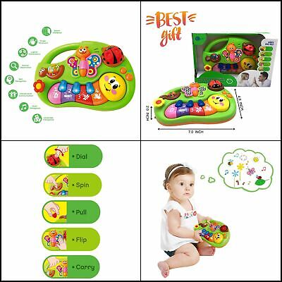 Baby Music Toys Piano Keyboard Light Best Gifts for 6 Months, 1 2 Old Boy