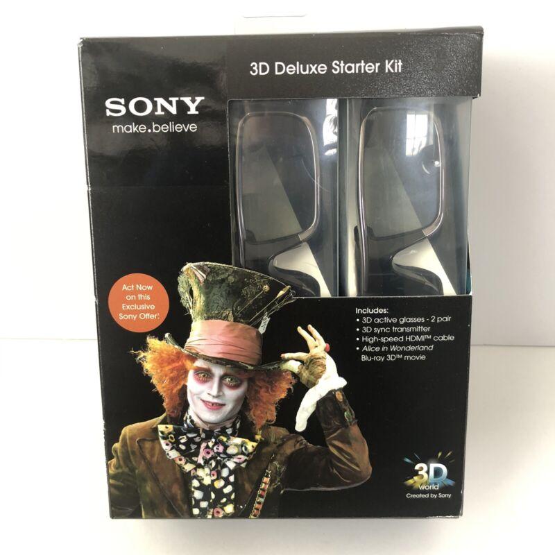 Sony 3D Deluxe Starter Kit 3D Glasses Alice in Wonderland 3D BluRay NEW SEALED