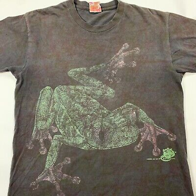 80s Tops, Shirts, T-shirts, Blouse   90s T-shirts Save The Earth Wild Oats 1985 1980s Vintage Shirt Frog Big Print Unisex Large $35.00 AT vintagedancer.com