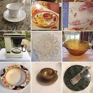 Vintage kitchen serveware, prices vary