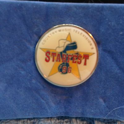 "NOS 1996 COUNTRY MUSIC TELEVISION ""STARFEST"" LAPEL PIN"