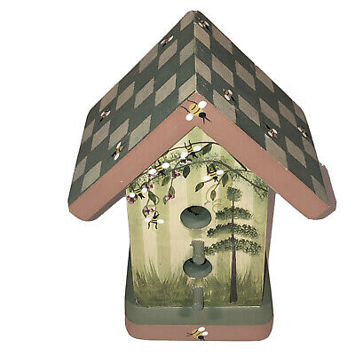 Wooden Birdhouse Collectible Handcrafted Vintage 1999 Mills House NC Preowned