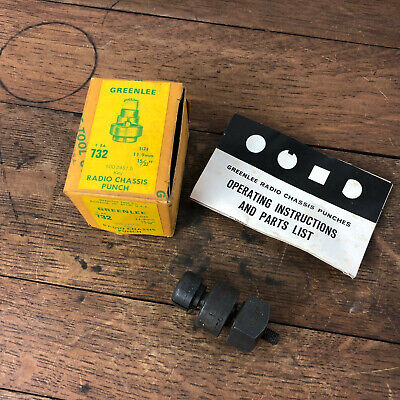 Nos - Greenlee 11.9mm 1532 Radio Chassis Punch 732 W Instructions Wh-16