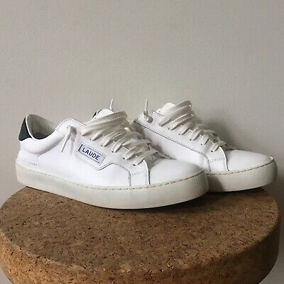 Alexander Laude 1 - Low White Leather Sneakers Trainers Mens us 10 eu 43