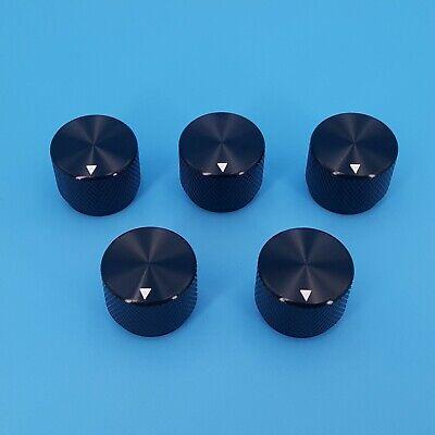 5pcs Black 20 X 15.5mm Aluminum Alloy 6mm Dia Rotary Control Potentiometer Knob