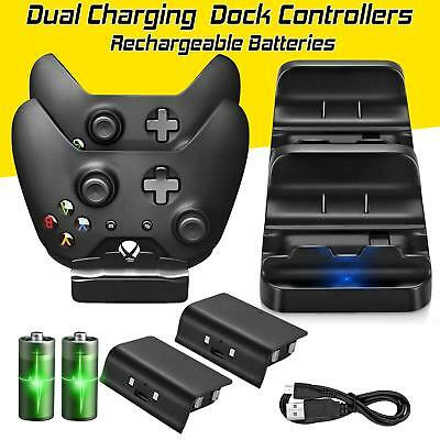 Usb Dual Controller Charger Dock Charging Station  2 Free Battery For Xbox One S