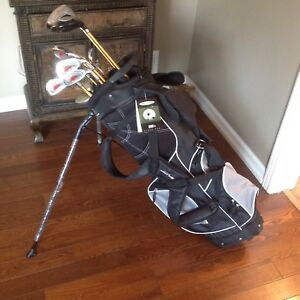 Clubs with new free standing bag