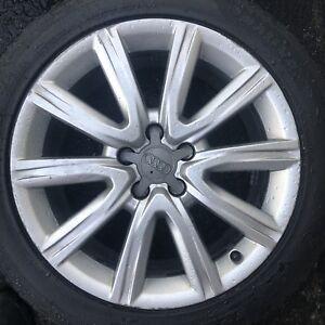 Mags Audi OEM 5x112 + 245-45-18 Neufs