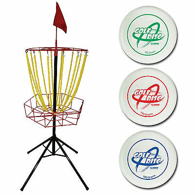 Escalade Sports 35 7120 Steel Triumph Outside Backyard Golf Toss With 3 Discs